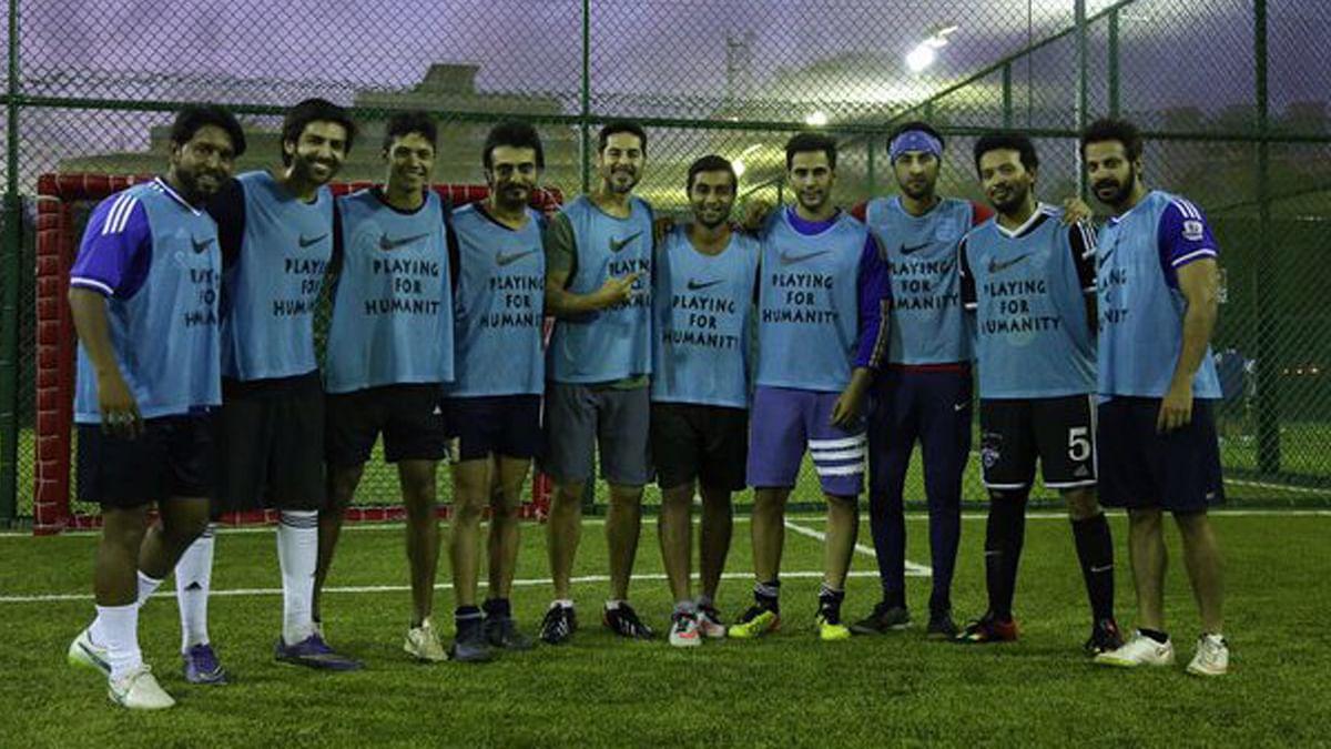 Ranbir Kapoor and Dino Morea Play Football for Humanity