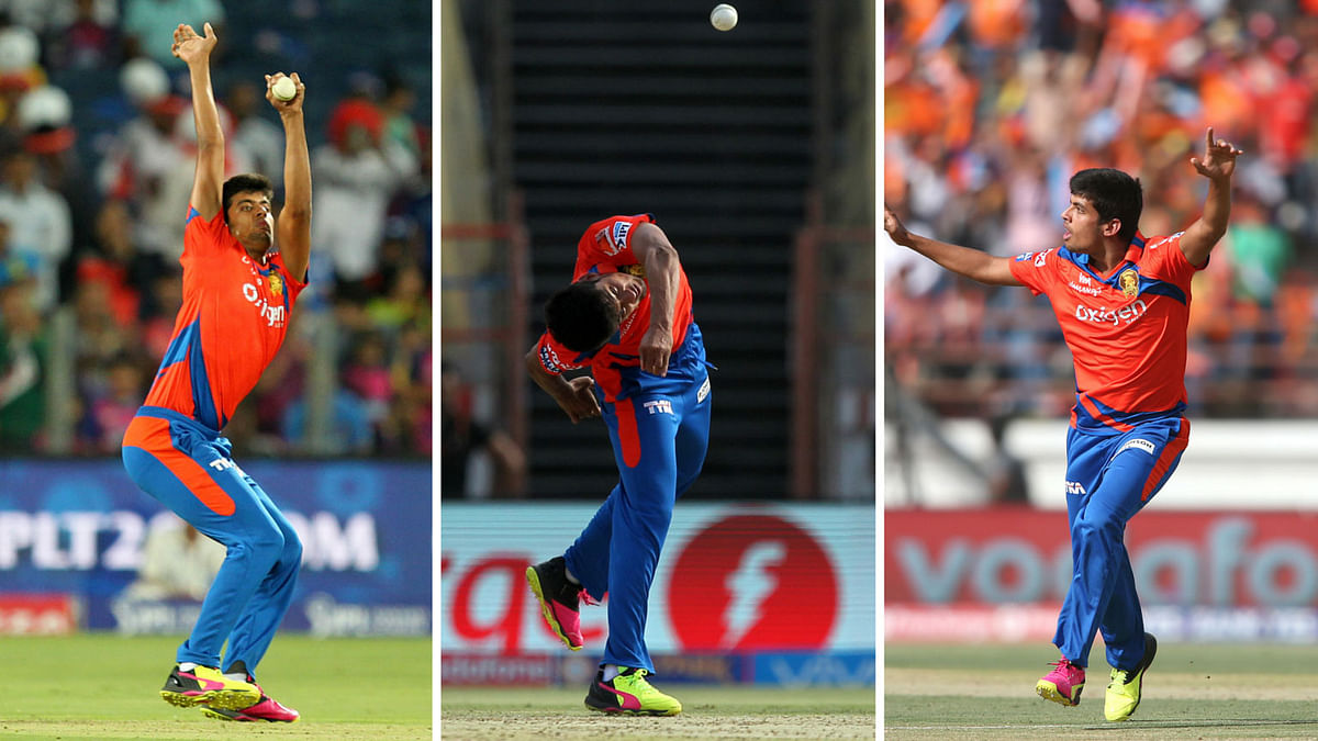 Gujarat Lions' Shivil Kaushik during his last 2 outings for the franchise. (Photo: BCCI)
