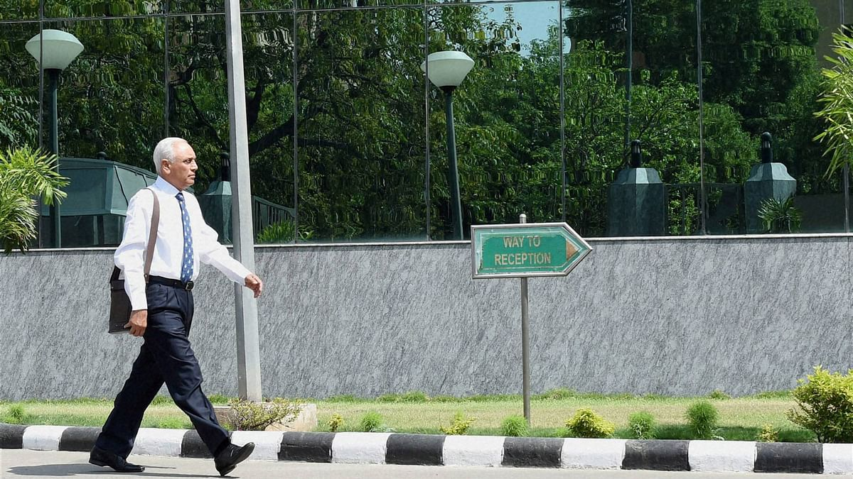Former Air Chief Marshal S.P. Tyagi arriving at the CBI headquarters in New Delhi  in connection with alleged corruption   AgustaWestland choppers deal, May 2, 2016. (Photo: PTI)