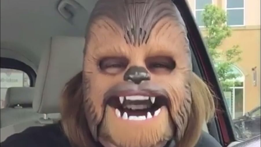 A Woman in a Chewbacca Mask –  Most-Watched Facebook Live Video
