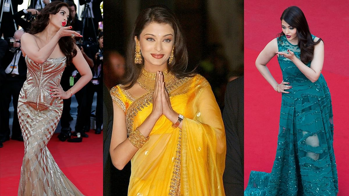 15 years of Aishwarya Rai Bachchan at Cannes is worth celebrating more than her fashion mistakes, isn't it? (Photos: Reuters)