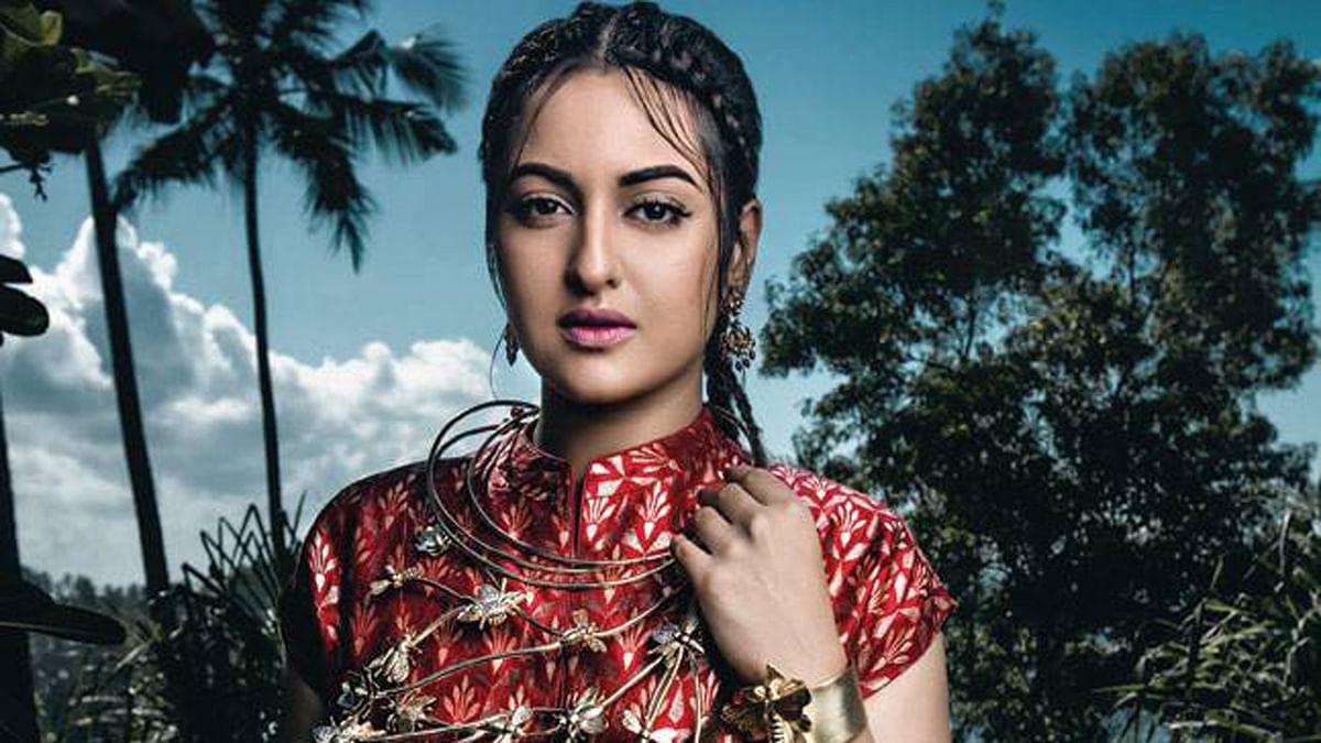 "Sonakshi Sinha in Harper's Bazaar Bride India May 2016 issue. (Photo courtesy: <a href=""https://www.facebook.com/HarpersBazaarBrideIndia/?fref=ts"">Facebook/Harper'sBazaarBrideIndia</a>)"