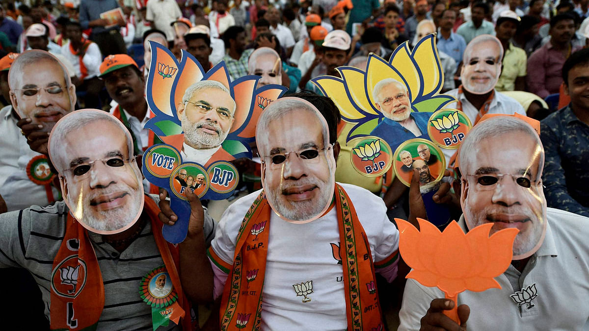 Crowd during Prime Minister Narendra Modis election campaign rally at Chennai in Tamil Nadu on Friday. (Photo: PTI)