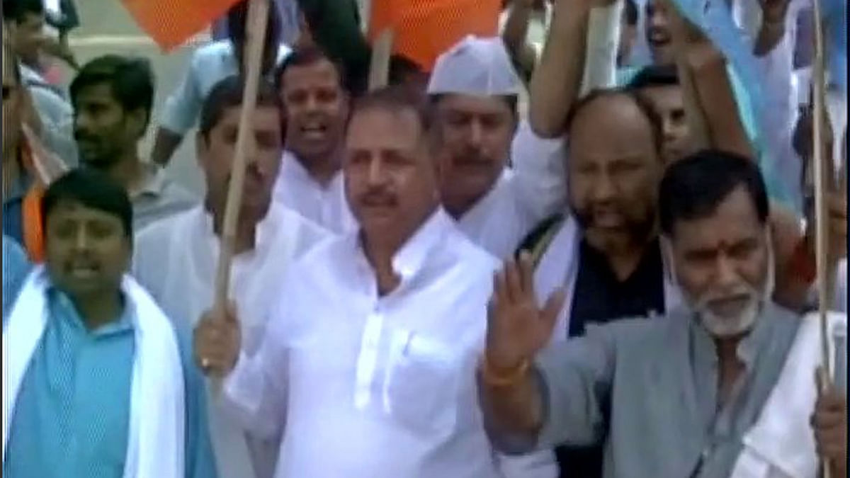 "BJP calls for a shutdown in Gaya after Aditya Sachedeva's murder(Courtesy: <a href=""https://twitter.com/ANI_news"">Twitter/@ANI_news</a>)"
