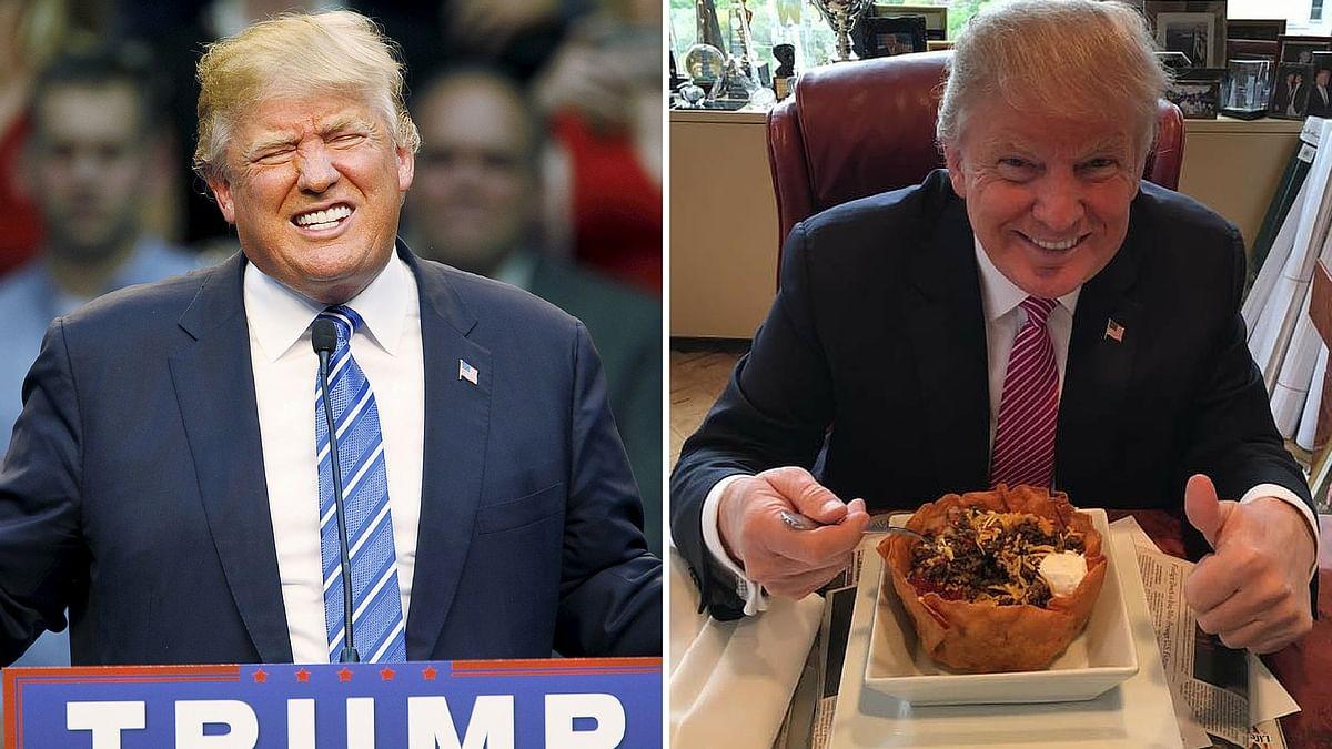 Trump's 'I love Hispanics' comments left social media wondering. (Photo altered by <b>The Quint</b>)