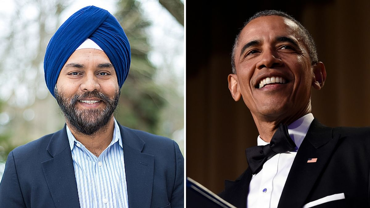 """Manjit Singh (left) has been appointed by US President Barack Obama (right). (Photo: <a href=""""https://twitter.com/supermanjit"""">Twitter</a>/AP)"""