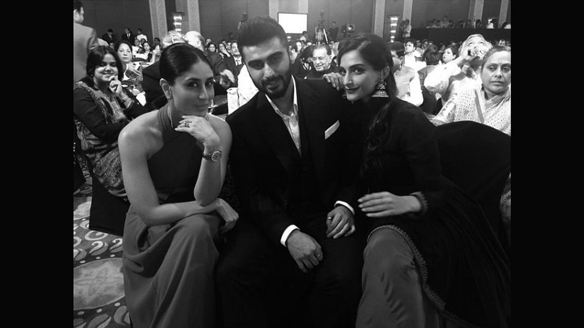 Kareena Kapoor, Arjun Kapoor and Sonam Kapoor (Photo courtesy: Instagram)