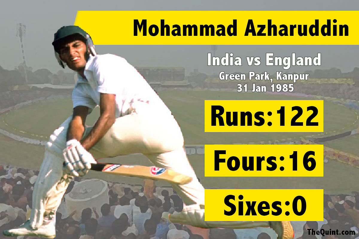 Mohammad Azharuddin's third test century. (Photo: The Quint/Amlan Das)