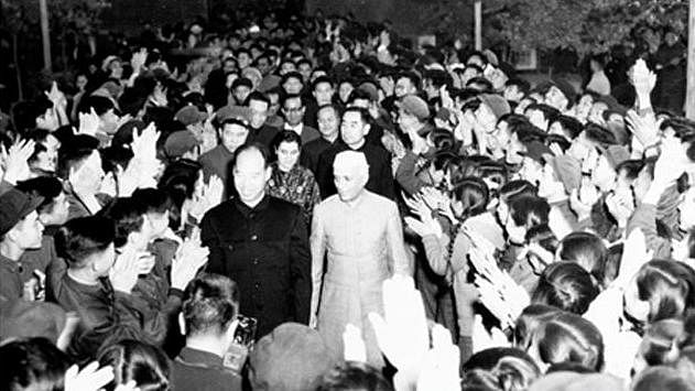 """Prime Minister Nehru on his official visit to China in 1954. (Courtesy: <a href=""""http://www.mea.gov.in/photo-features.htm?895/Prime+Ministerial+Visits+to+China#"""">MEA</a>)"""