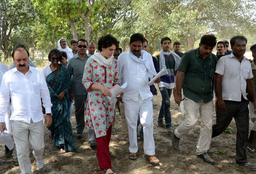 Congress chief Sonia Gandhi's daughter Priyanka Gandhi visits Raebareli of Uttar Pradesh, on May 27, 2015. (Photo: IANS)