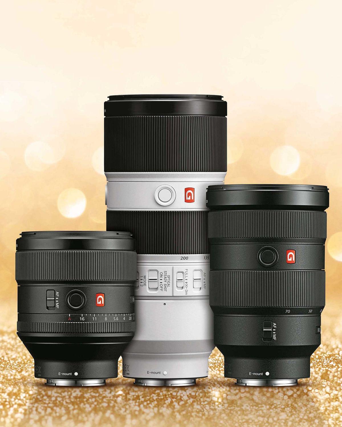 Sony G Master Brand of lenses. (Photo: Sony India)