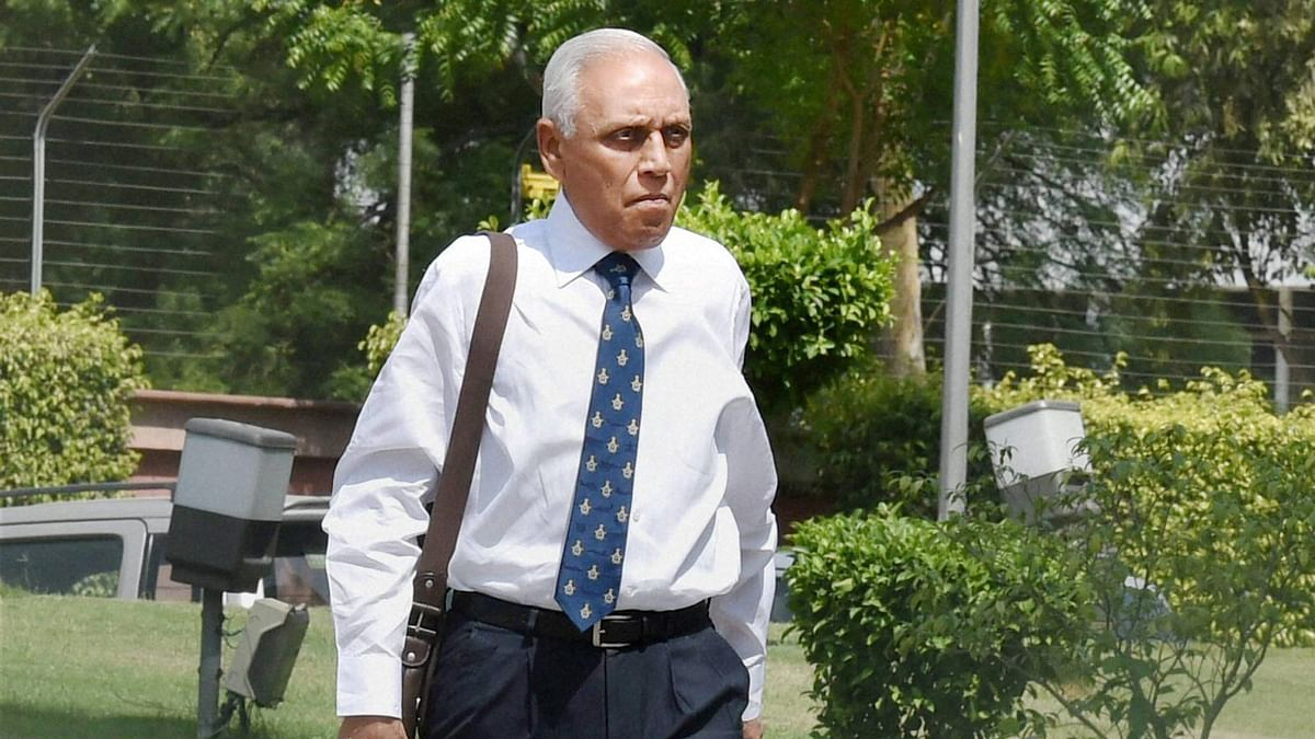 Former Air Chief Marshal SP Tyagi arriving at the CBI headquarters in New Delhi. (Photo: PTI)