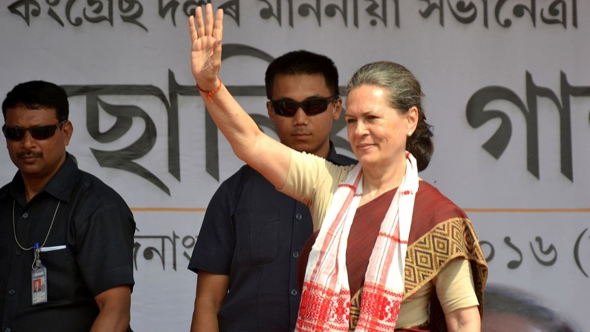 Congress Chief Sonia gandhi. (Photo: IANS)