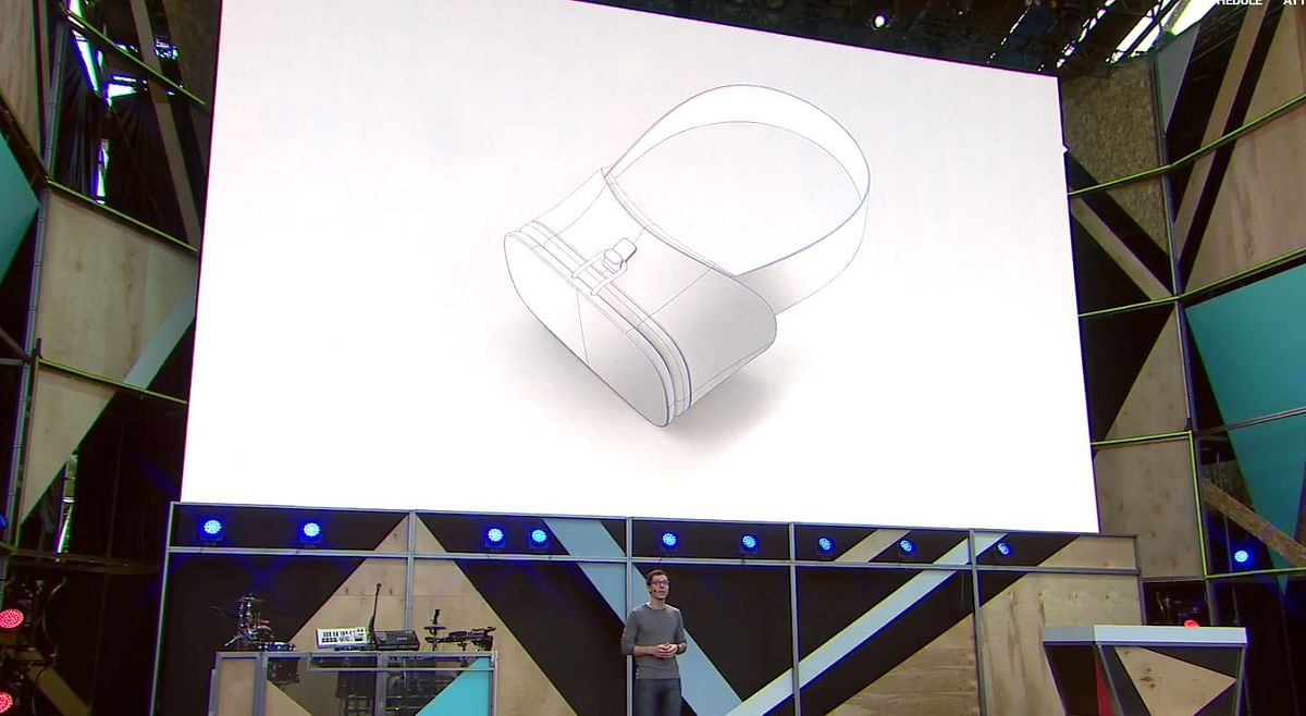 Reference VR headset for mobile makers. (Photo: Google)