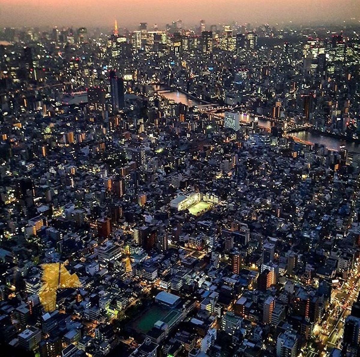 Tokyo skyline from the Skytree. (Photo Courtesy: Ashwin Rajagopalan)