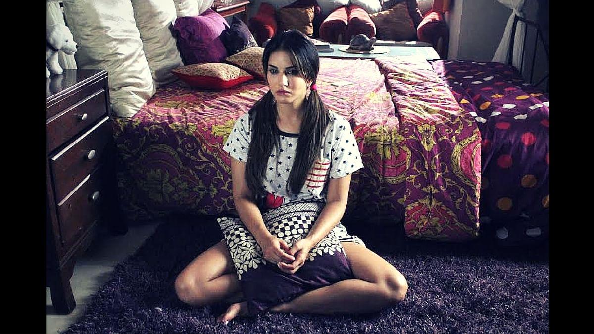 Sunny Leone in a scene from <i>Beiimaan Love</i>