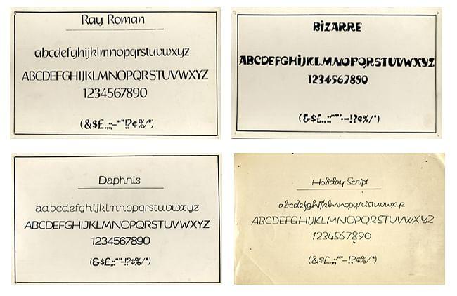 Fonts created by Satyajit Ray.