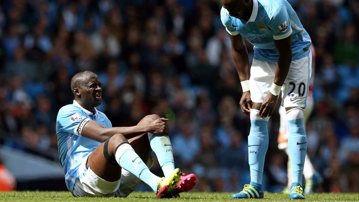 Yaya Toure of Manchester City is doubtful for the game (Photo: AP)