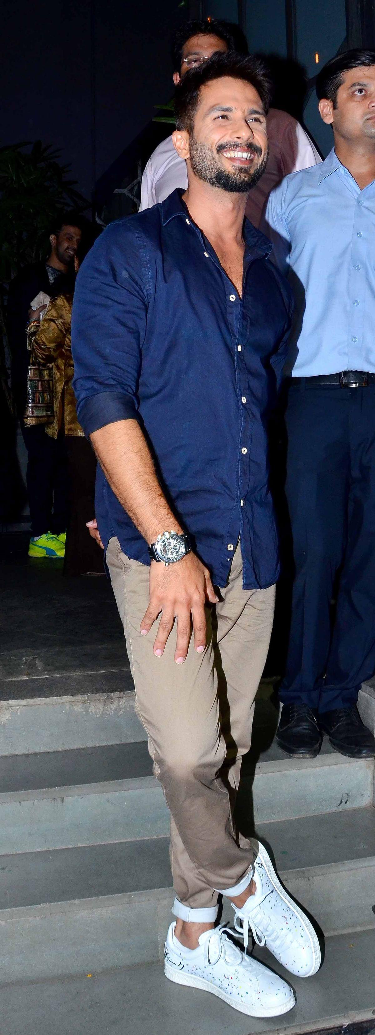 Shahid Kapoor looking as dashing as ever. (Photo: Yogen Shah)