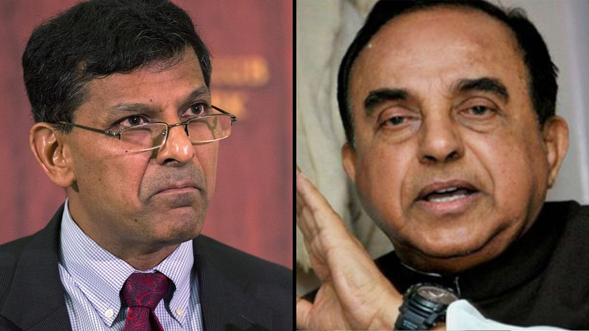 Subramanian Swamy (left) and Raghuram Rajan. (Photo: Altered by <b>The Quint</b>)&nbsp;