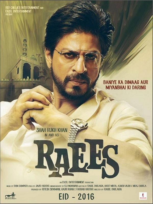 A poster of <i>Raees</i> with the old release date
