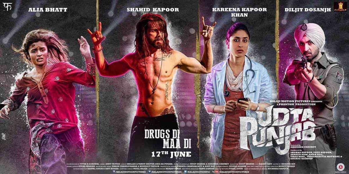 A poster of <i>Udta Punjab. </i>(Photo: Phantom Pictures Limited)