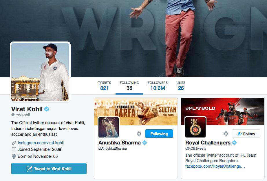 Virat Kohli Follows Anushka Sharma Back on Twitter and Instagram