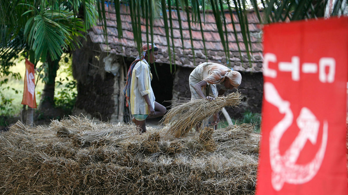 In almost all of Nandigram, the CPI(M)'s red flags and festoons are completely missing. (File photo: Reuters)