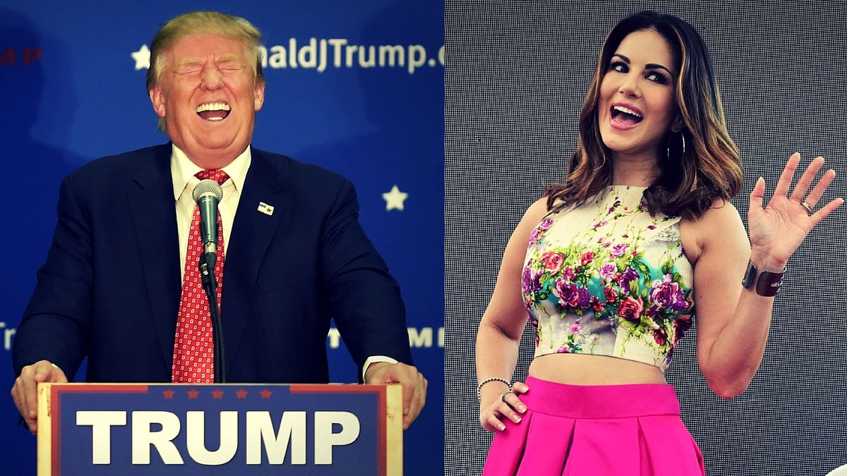 There's one thing that Donald Trump and Sunny Leone have in common. Read on to find out! (Photos: Twitter)