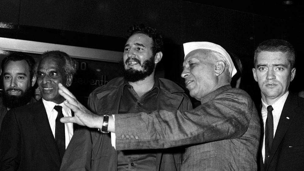 Nehru with Fidel Castro. (Photo: Reuters)