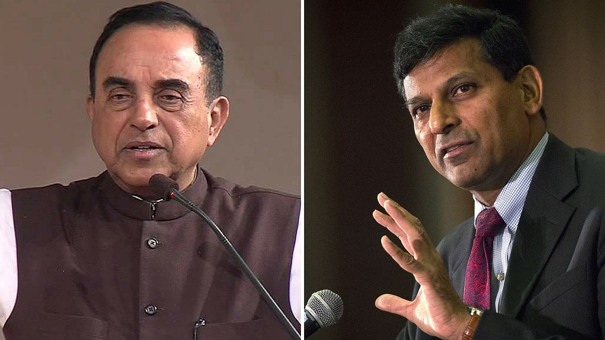 Subramanian Swamy attacks Raghuram Rajan yet again. (Photo altered by <b>The Quint</b>)