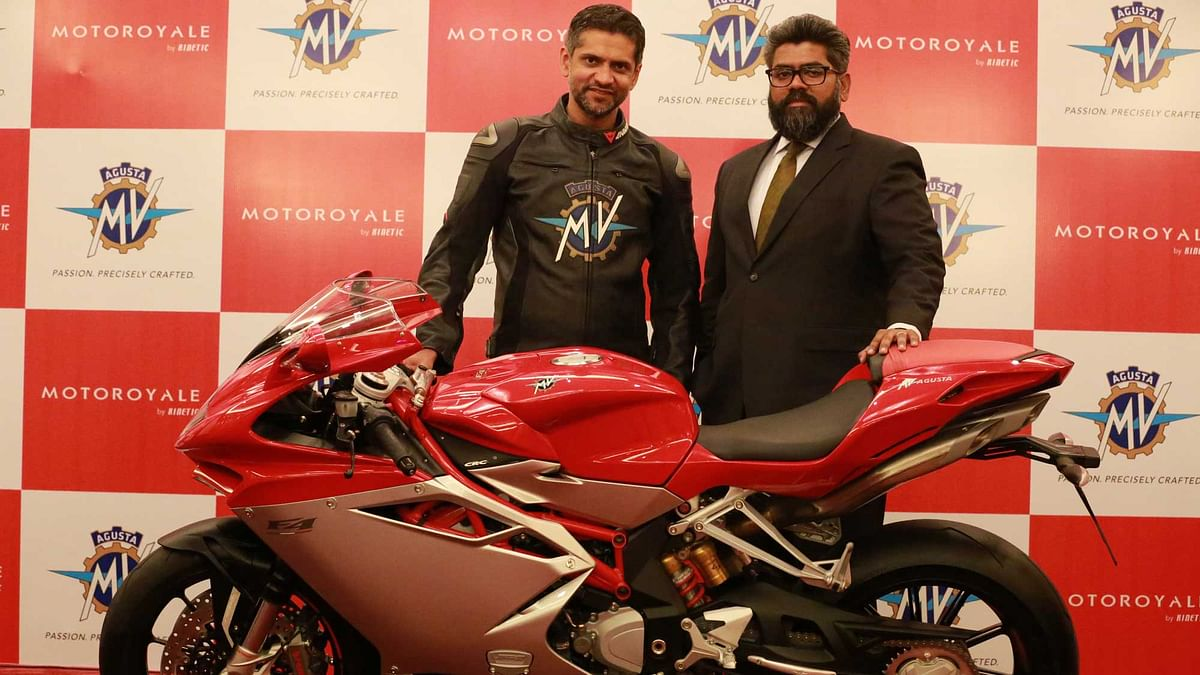 Ajinkya Firodia, Managing Director of MV Agusta India Pvt Ltd and R Judah Immanuel Sangaran, FarEast Country Manager, MV Agusta Motor. (Photo: MV Agusta)