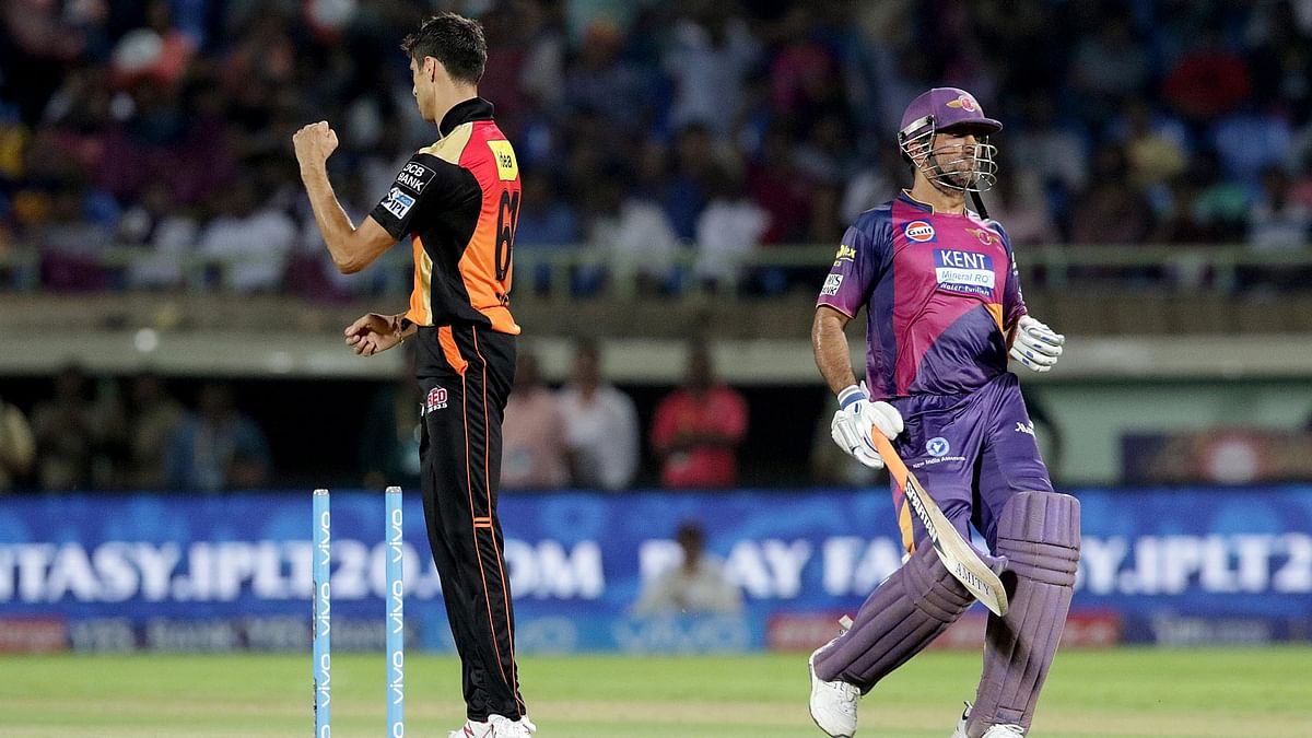 MS Dhoni gets run out by Sunrisers Hyderabad's Yuvraj Singh on Tuesday. (Photo: BCCI)