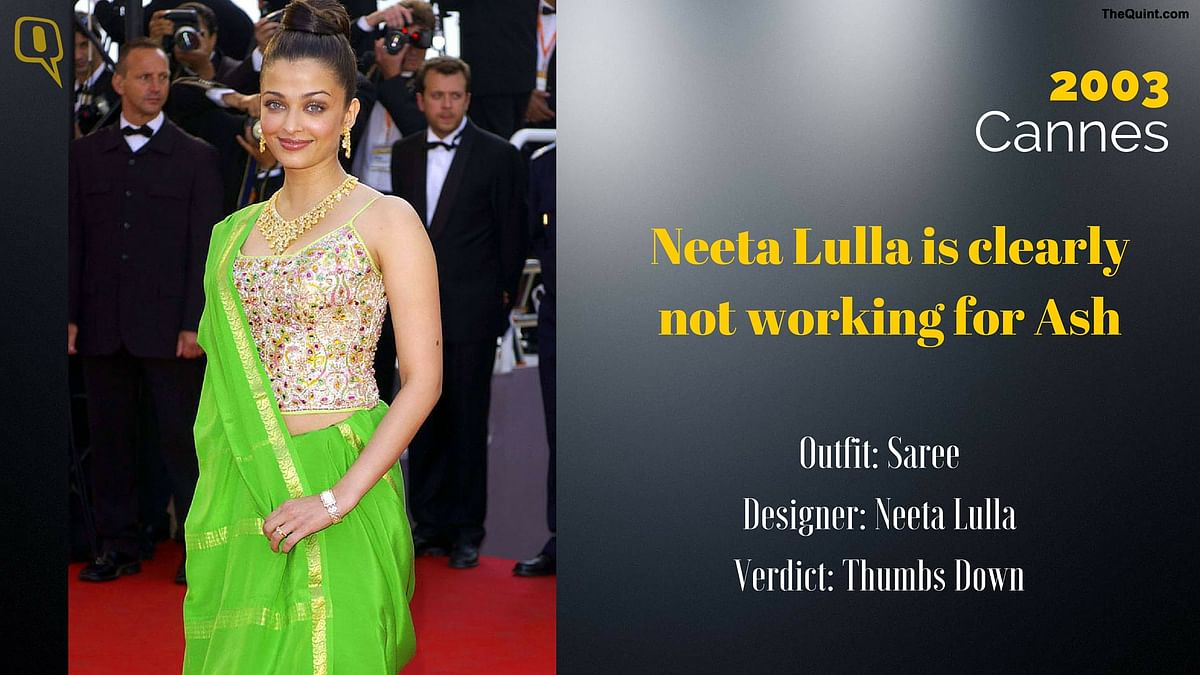 Cannes 2003: Neeta Lulla is clearly not working for Ash.