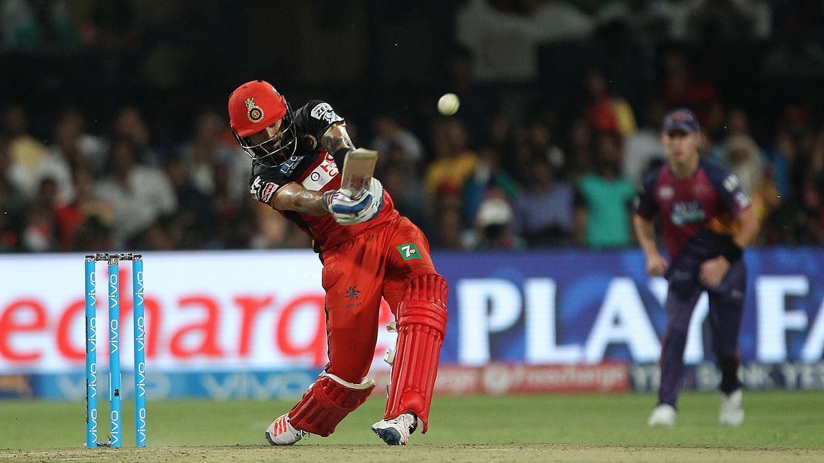 Virat Kohli scored his second ton of the season to guide RCB to a victory against RPS (Photo: BCCI)