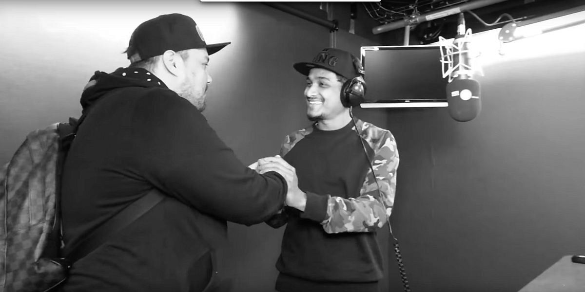 Divine meets with Charlie Sloth on the BBC show (Photo courtesy: YouTube)
