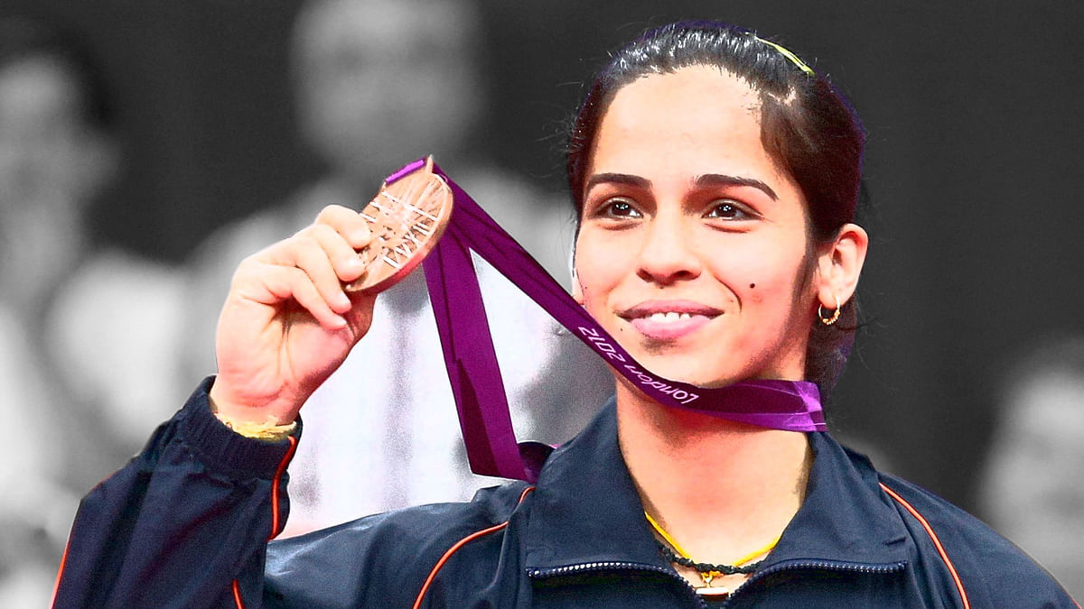 Saina Nehwal with her Bronze medal from the 2012 London Olympics. (Photo: Reuters)