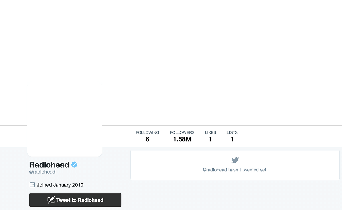 "Screengrab of their Twitter account. (Photo: Twitter/<a href=""https://twitter.com/radiohead"">@radiohead</a>)"