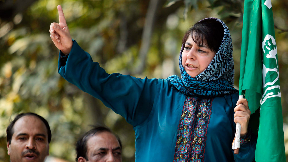 PDP President Mehbooba Mufti. (Photo: Reuters)