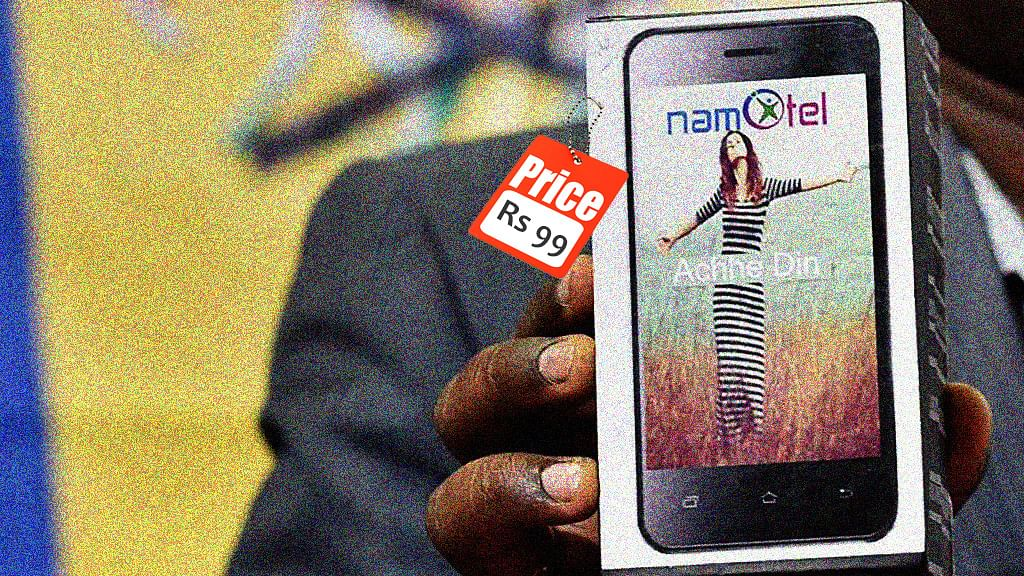 This smartphone costs less than Rs 100 note. (Photo: PTI/The Quint)
