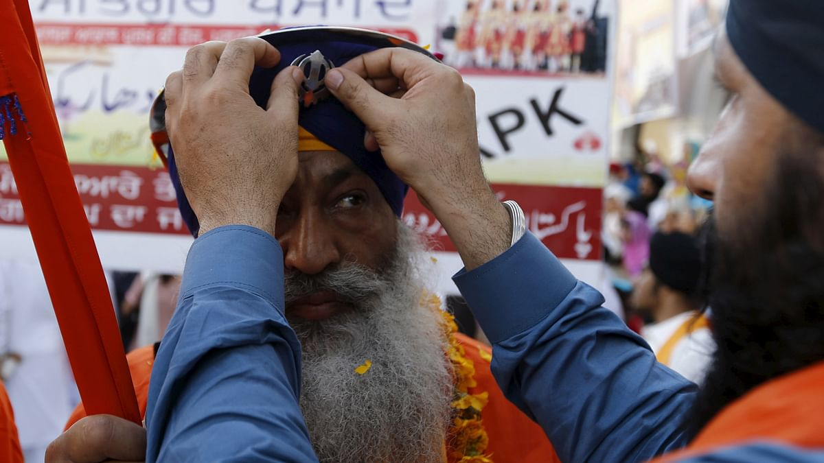 Sikh men celebrate Baisakhi in Pakistan. (Photo: Reuters)