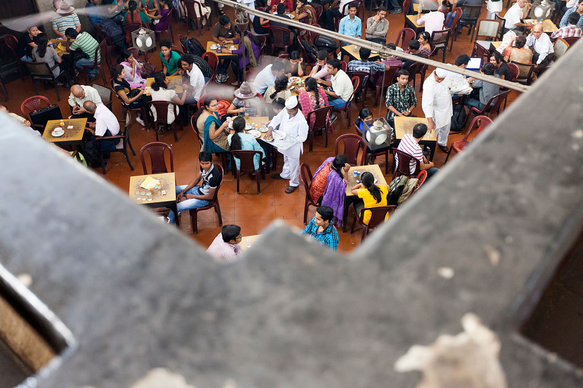 The view from up top at Indian Coffee House, Kolkata. (Photo: Sent by Stuart Freedman)