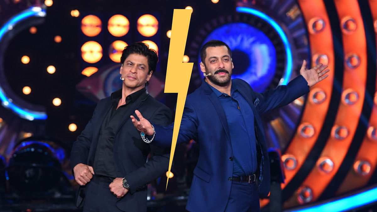 Shah Rukh and Salman Khan are at peace, their fans, however, are not (Photo Courtesy: Colors)