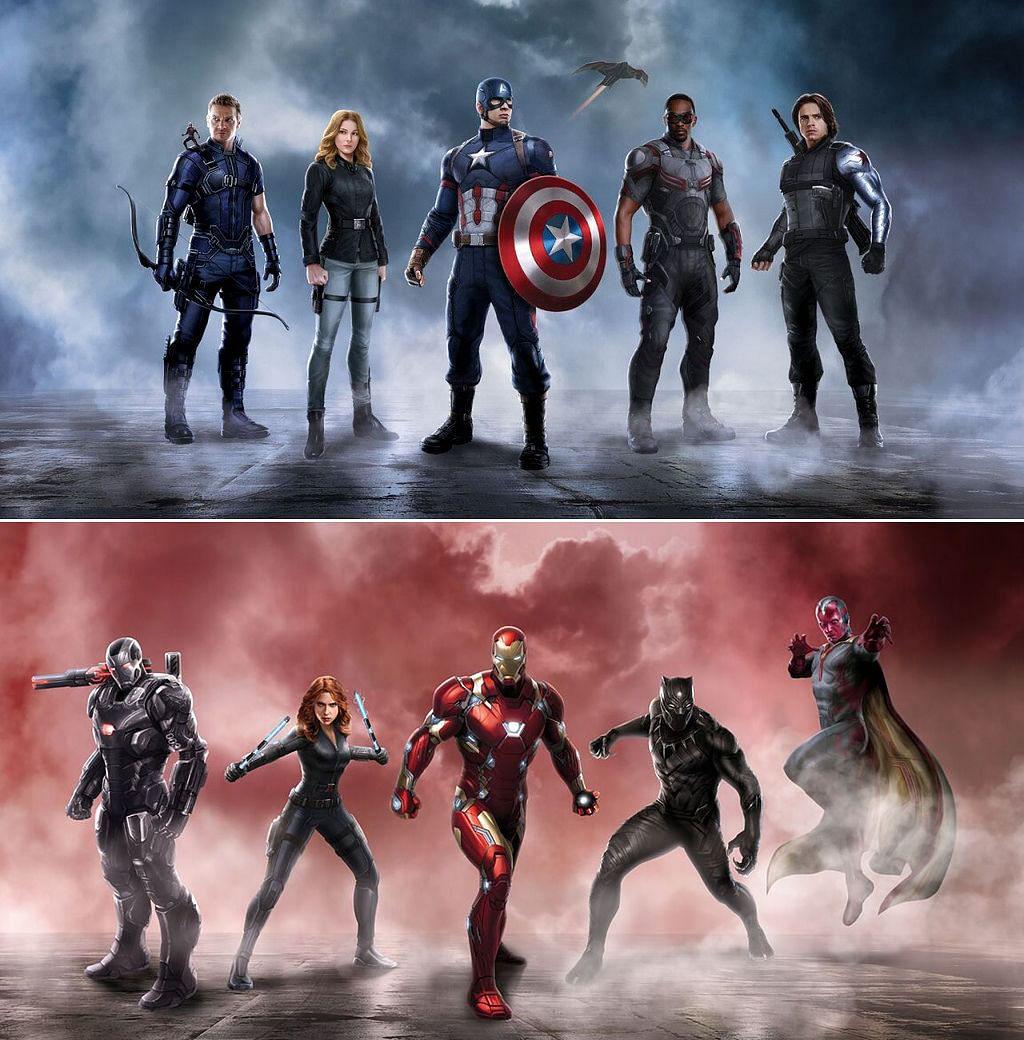 Publicity stills from <i>Captain America: Civil War</i>