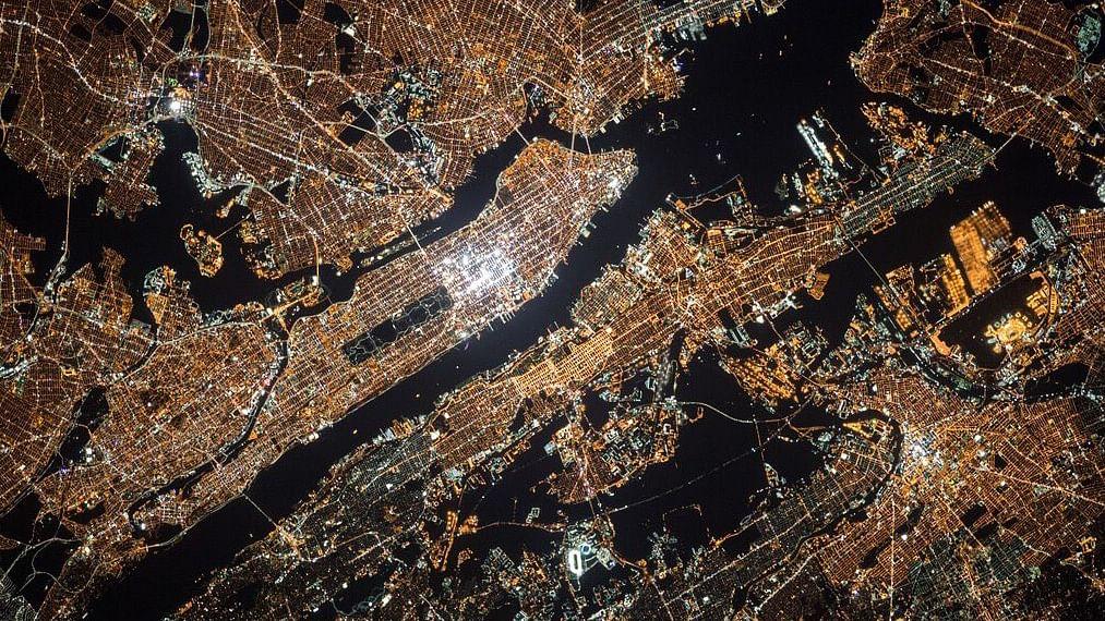 NYC at night from space. (Photo Courtesy: NASA/Scott Kelly)