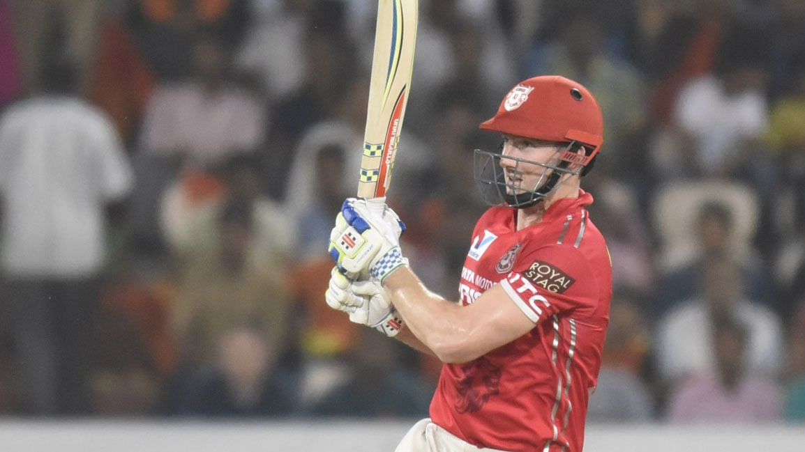 Shaun Marsh during KXIP's match against Sunrisers Hyderabad in April 20-16. (Photo: IANS)