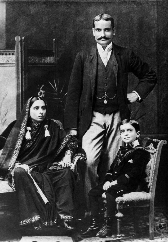 "Jawaharlal Nehru with his mother Swarup Rani and father Motilal Nehru, 1894. (Photo: <a href=""http://www.nehrumemorial.nic.in/en/galleries/photo-gallery/category/40-jawaharlal-nehru-with-family-members.html"">Nehru Memorial Museum and Library</a>)"