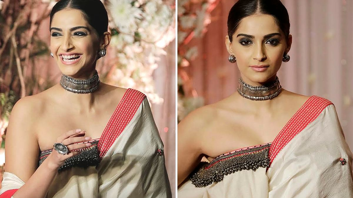 Sonam Kapoor at Bipasha Basu and Karan Singh Grover's wedding. (Photos: Yogen Shah)