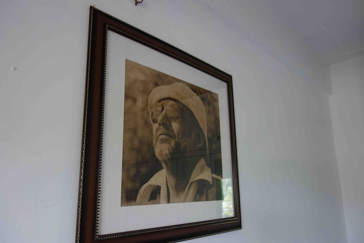 One of BR Ishara's black and white photos which adorn Rehana Sultan's wall (Photo: Khalid Mohamed)