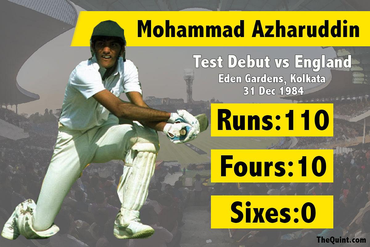 Mohammad Azharuddin's first test century. (Photo: The Quint/Amlan Das)